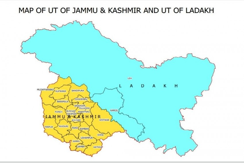 New Map Of India Released, Depicts Union Territories Of Jammu And Kashmir, Ladakh