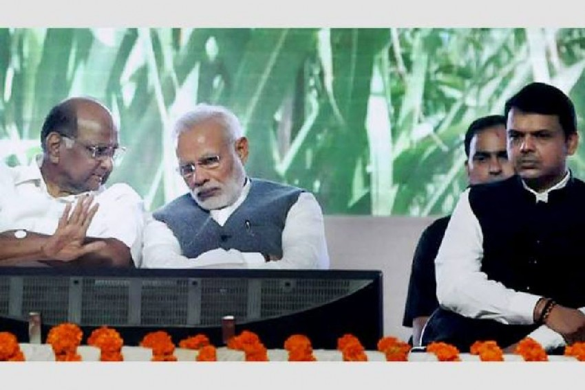 Amid Growing Maharashtra Mystery, Sharad Pawar Meets PM Modi To Discuss Farmers' Distress