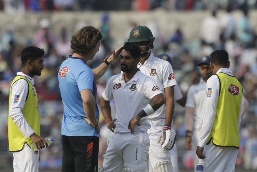 IND Vs BAN, Day-Night Test: Hit By Brutal Mohammed Shami Bouncer, 'Dizzy' Liton Das Taken For CT Scan