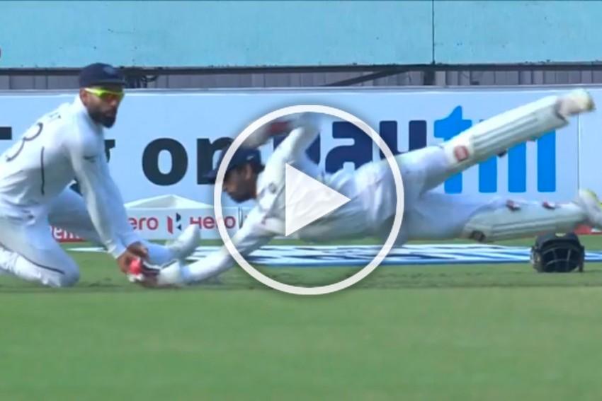 IND Vs BAN, Day-Night Test: Take That! Wriddhiman Saha's Sensational Catch Tops Rohit Sharma's Effort - WATCH