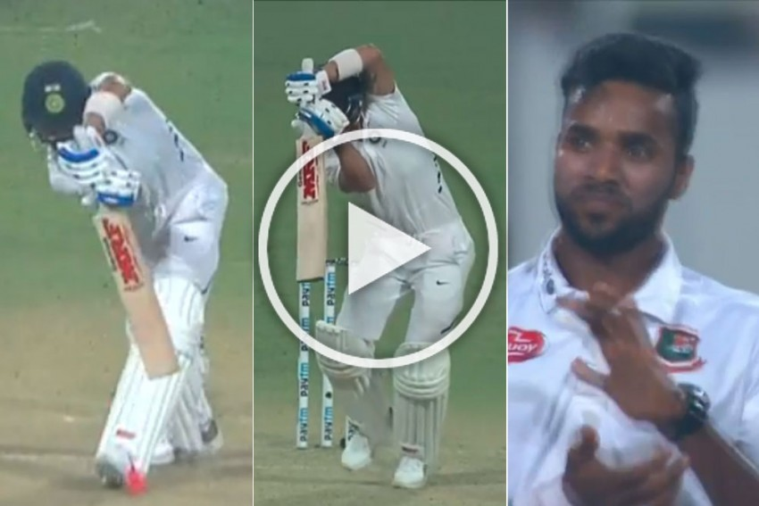 IND Vs BAN, Day-Night Test: Mesmerised Bowler Applauds Virat Kohli Shot, Harsha Bhogle Wants Skipper's Drive In Loop - WATCH