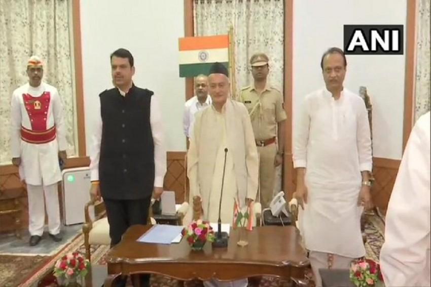 Devendra Fadnavis Takes Oath As Maharashtra Chief Minister, NCP's Ajit Pawar Is Deputy CM