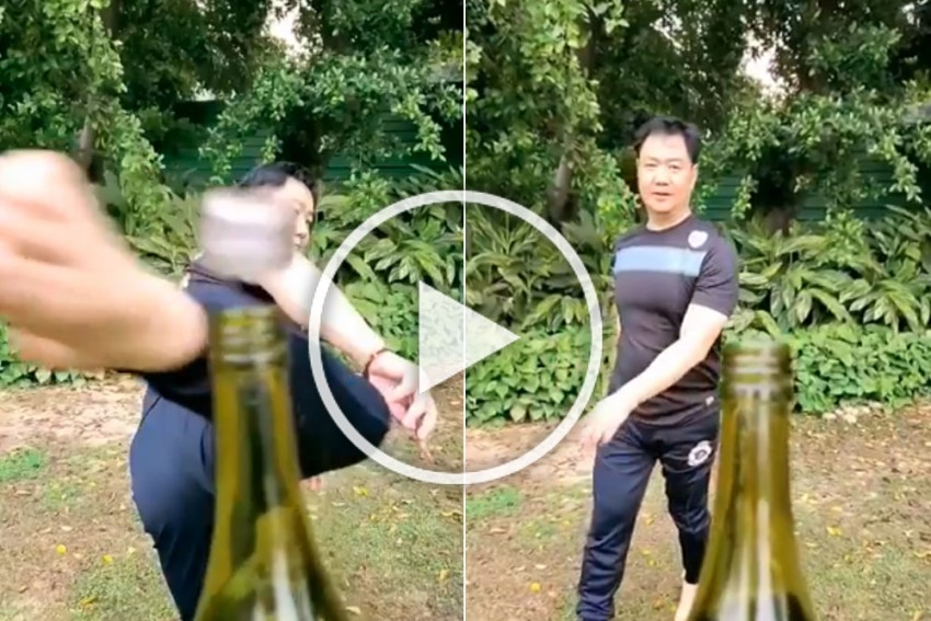 Union Sports Minister Kiren Rijiju Aces #BottleCapChallenge With Stunning Kick - WATCH