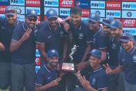 India B Lift Deodhar Trophy On Back Of Kedar Jadhav, Shahbaz Nadeem
