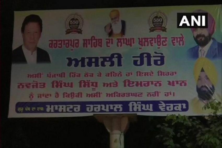 Hoardings Hailing Sidhu, Imran Khan As 'Real Heroes' Of Kartarpur Project Surface In Amritsar