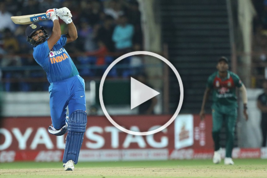 India Vs Bangladesh: SIXES GALORE!! Rohit Sharma Slams Hat-Trick Of Sixes - WATCH