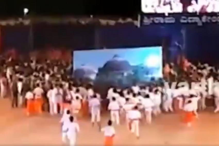 Karnataka School, Run By RSS Member, Makes Students Re-Enact Babri Masjid Demolition
