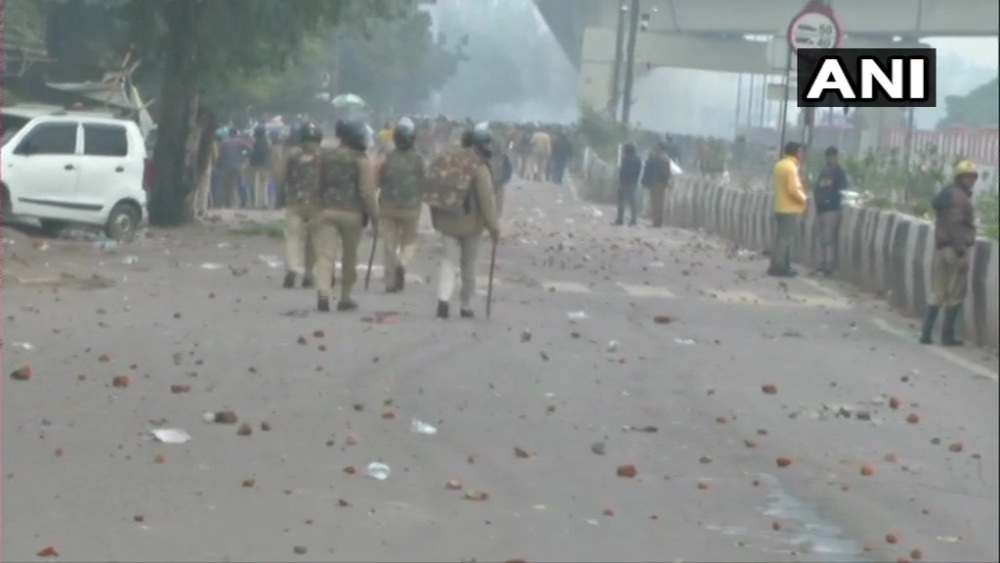 Protesters Set Ablaze Police Post As Anti-Citizenship Law Agitation Turns Violent In Delhi's Seelampur