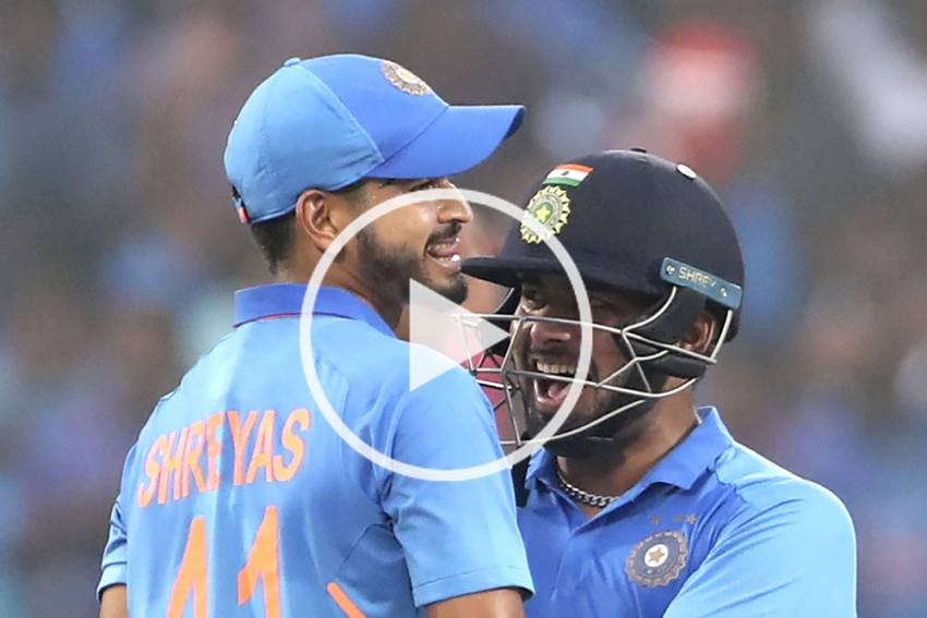 IND Vs WI, 2nd ODI: Shreyas Iyer And Rishabh Pant Hit Most Runs In An Over For India - WATCH