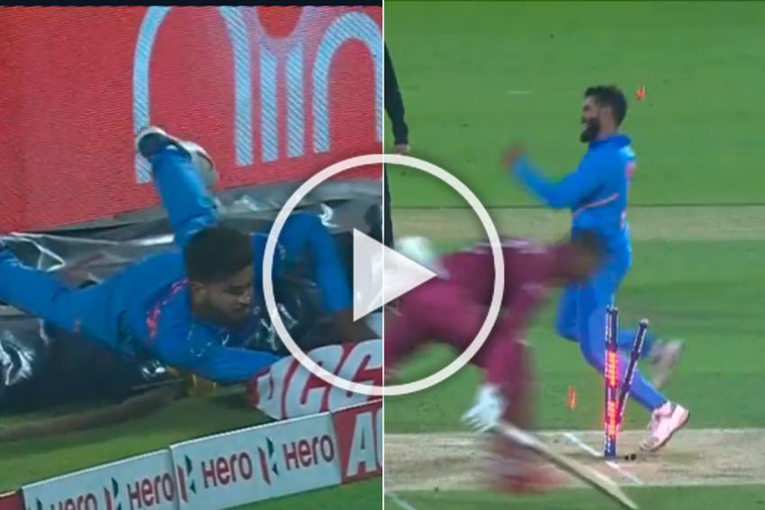IND Vs WI, 2nd ODI: Shimron Hetmyer Becomes Victim Of Shreyas Iyer's Sensational Fielding Effort - WATCH