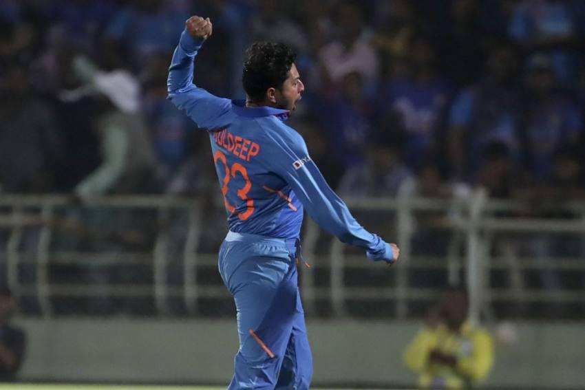 IND Vs WI, 2nd ODI: Kuldeep Yadav Becomes First Indian To Bag Two International Hat-Tricks