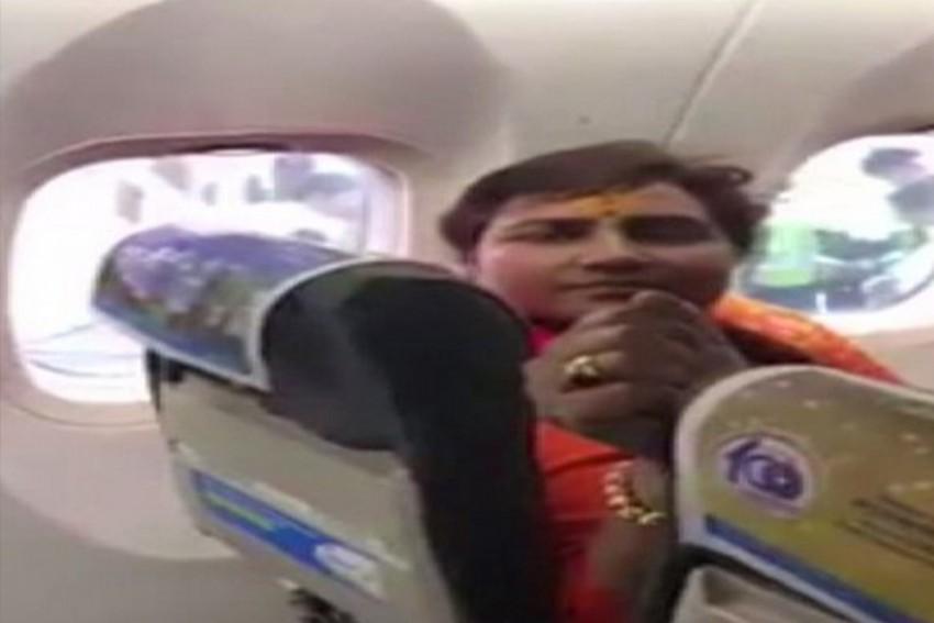 BJP Leader Pragya Thakur Gets Into Spat With SpiceJet Passengers