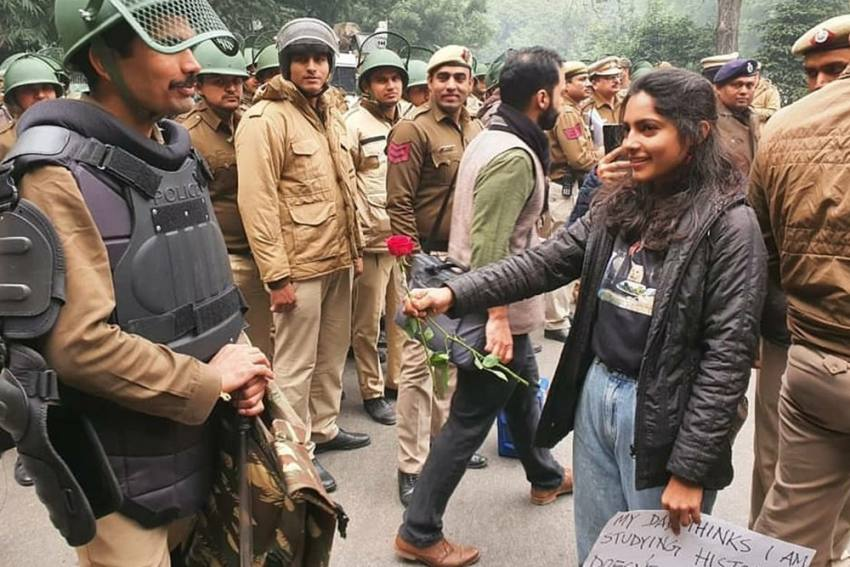 A Cop, A Rose And A Blush Of Shame