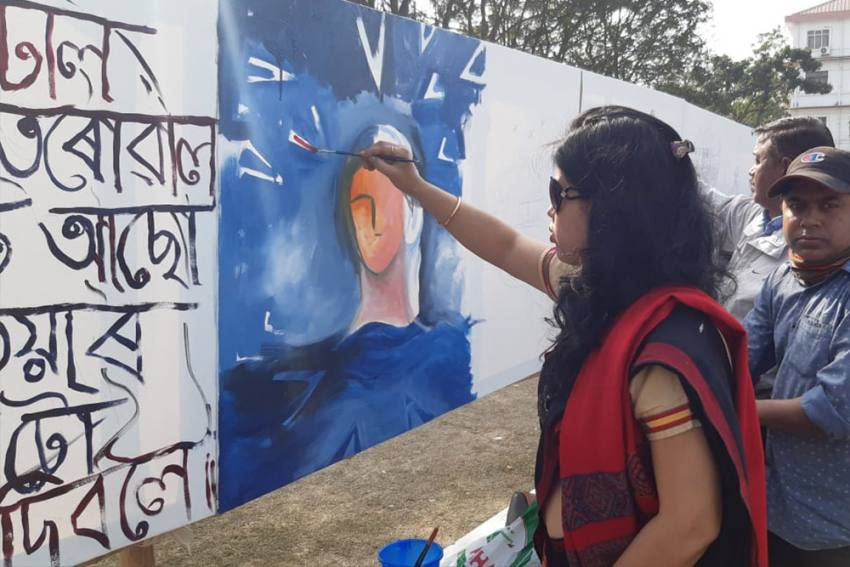 Assam Continues Its Protest Against Citizenship Amendment Act, Now With Poetry And Paintings