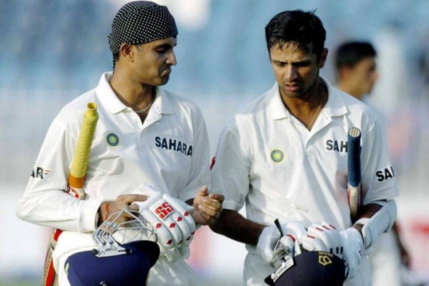 Image result for rahul dravid ganguly