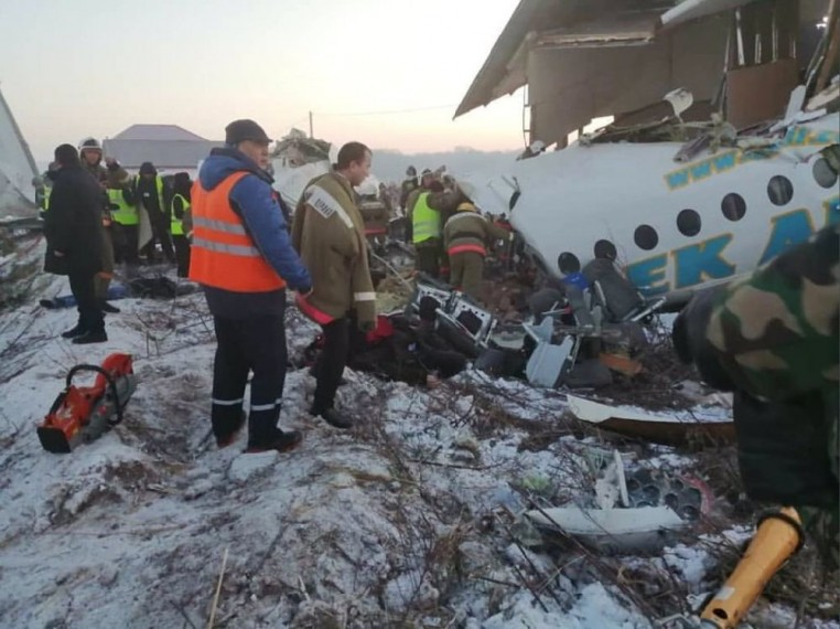 Plane With 98 People On Board Crashes In Kazakhstan; 15 Dead