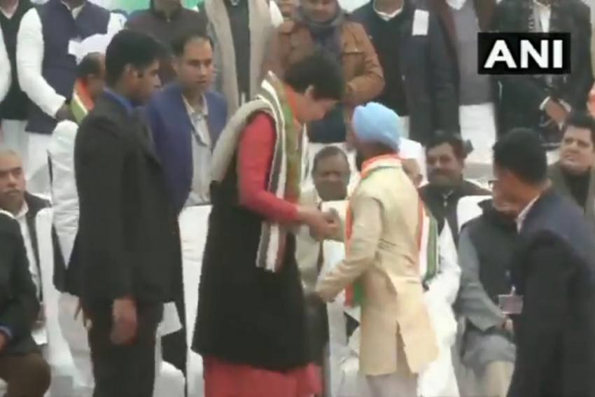 Man Breaches Priyanka Gandhi's Security, Gets To Meet Her
