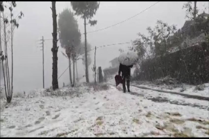 Nagaland Village Witnesses Snowfall After 37 Years, Videos, Photos Are Viral