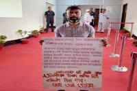 'It's Like Hitler's Rule': Congress' Assam MLA Cuts Palm To Write Anti-BJP Slogans