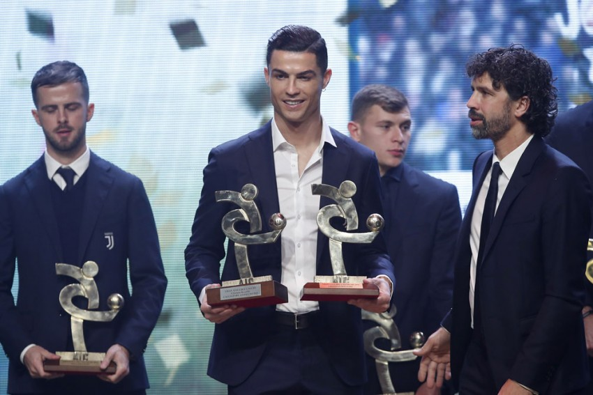 Cristiano Ronaldo Scoops Serie A Award On Day Lionel Messi Beats Him To Record Ballon D'Or