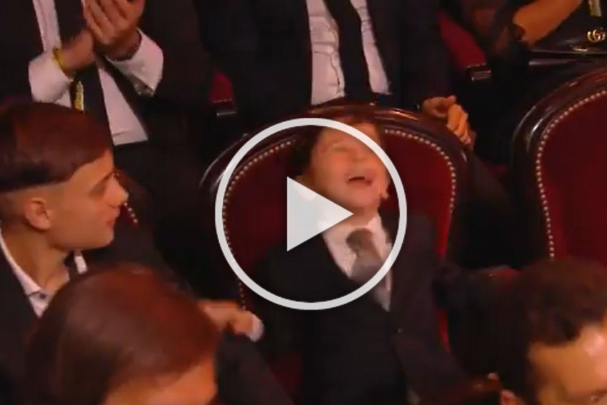 WATCH: Mateo's Priceless Reaction To Father Lionel Messi Winning Record Sixth Ballon D'Or