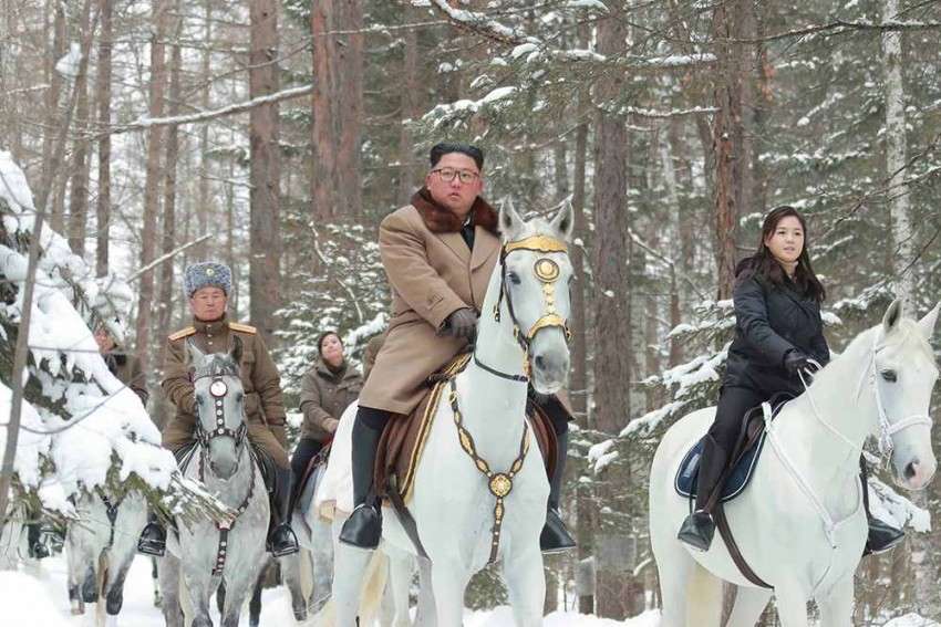 Kim Jong Un Again Rides Horse Up Sacred Peak As Nuke Deadline Nears