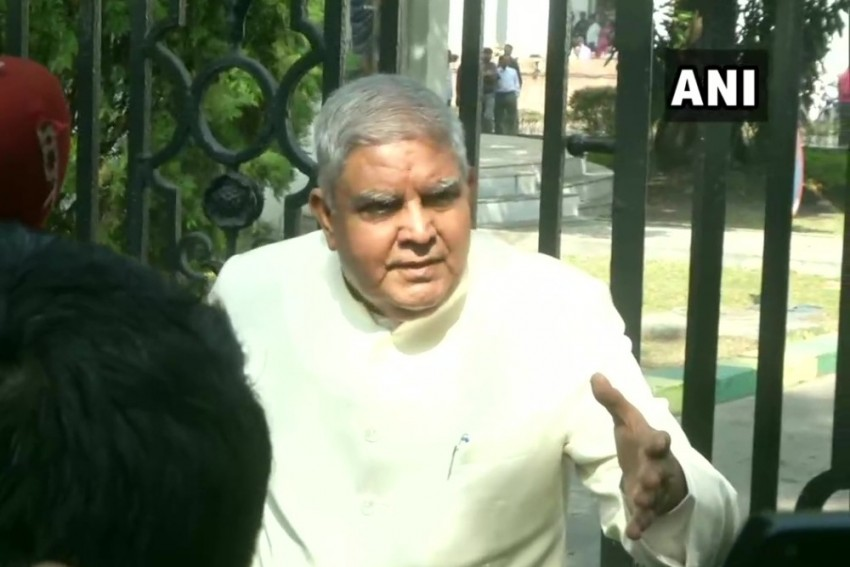 'Don't Insult Democracy': WB Governor Jagdeep Dhankar Arrives At State Assembly, Finds Gate Locked