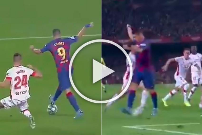 Luis Suarez Scores Ridiculous Backheel Goal In Barcelona Romp, Hails It His Best Ever - WATCH