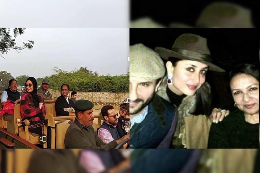 Kareena Kapoor, Saif Ali Khan And Taimur Celebrate Sharmila Tagore's Birthday With A Ranthambore Safari