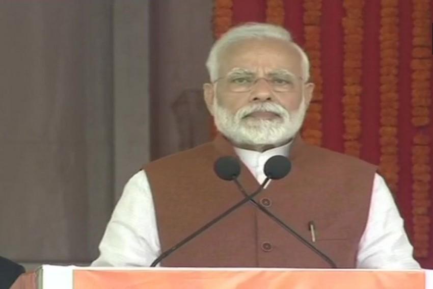 Modi Attacks Naidu In Andhra Pradesh, Calls Him A Backstabber Amid Protests