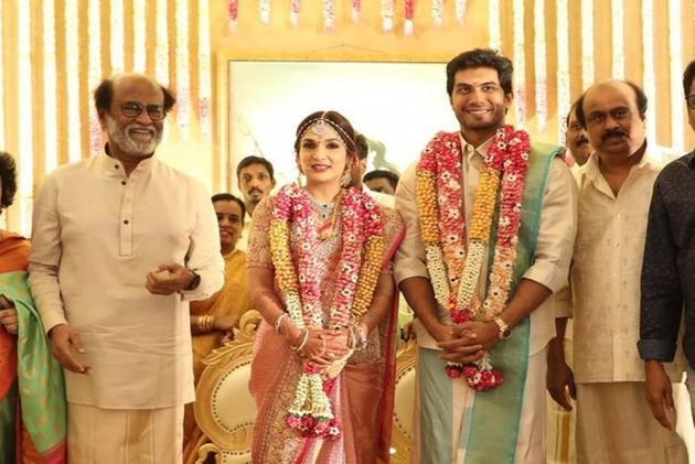 Superstar Rajinikanth's Daughter Soundarya Marries Vishagan In Grand Ceremony
