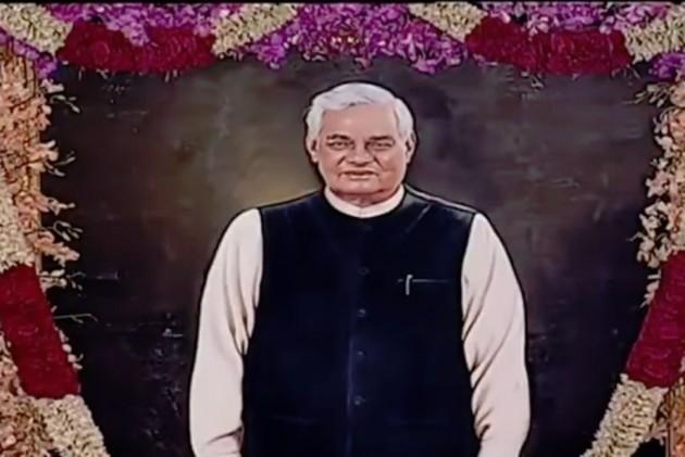 President Kovind Unveils Portrait Of Atal Bihari Vajpayee In Parliament's Central Hall
