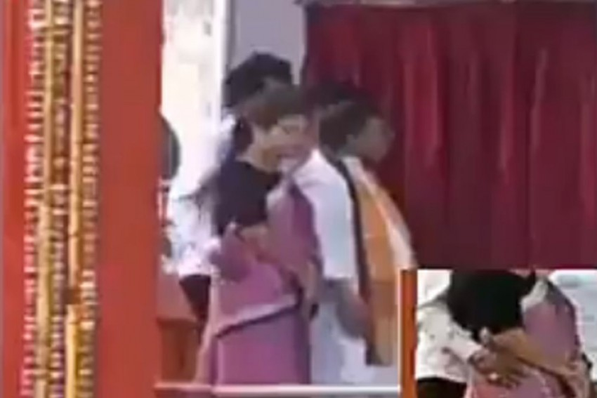 Video Shows Tripura Minister Groping Woman Colleague On Stage During PM's Programme