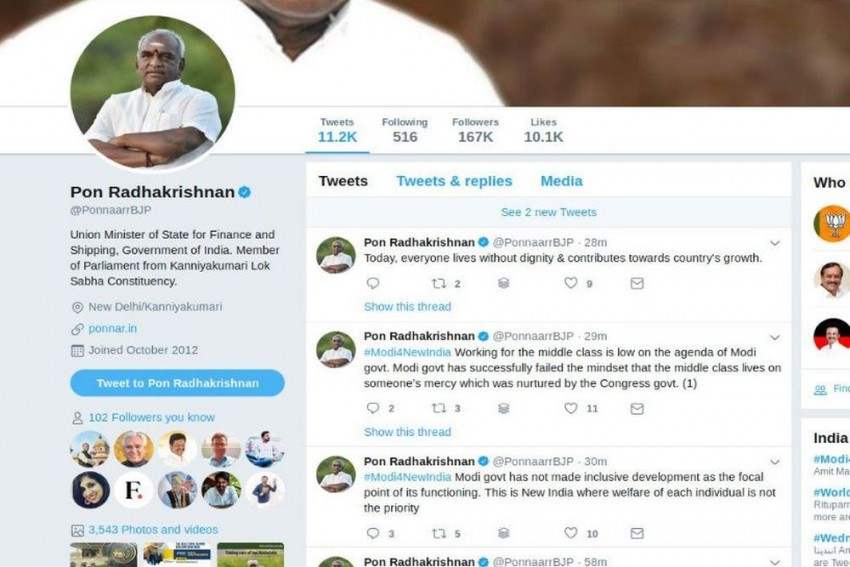 Why Is A Union Minister And BJP Criticising Modi On Twitter? Find Out