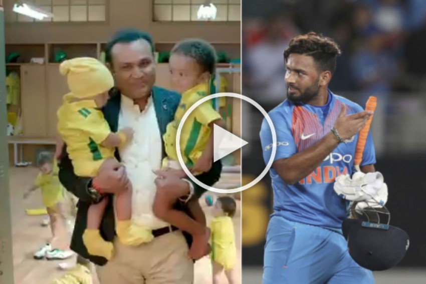 Cricket's Original 'Babysitter' Rishabh Pant Hails Virender Sehwag For Being An Inspiration – VIDEO