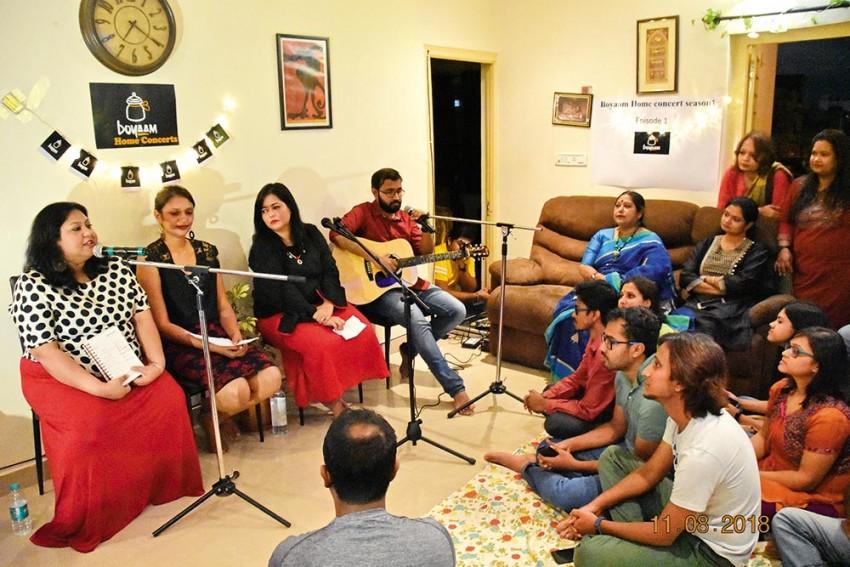 Living Room Gigs: Music, Poetry, Stories Get A Snug Corner