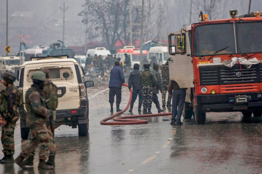 Suicide Blast In Kashmir's Pulwama Kills 40 CRPF Jawans