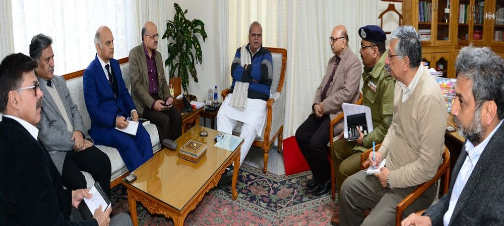 JK Governor Satya Pal Malik Reviews Security In The State, Appeals For Peace