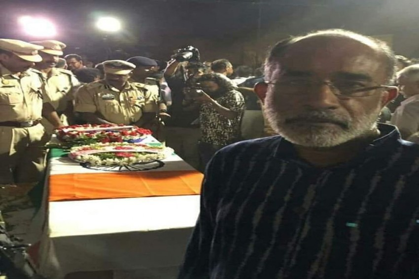 'False News,' Says K J Alphons After Getting Trolled For 'Selfie' With Soldier's Coffin