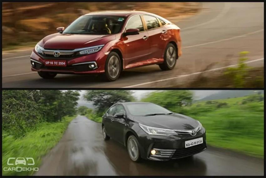 Honda Civic 2019 vs Toyota Corolla Altis: In Pics