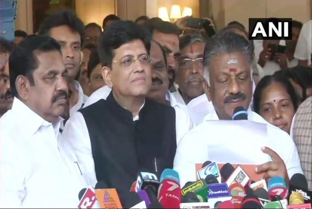 BJP Announces Alliance With AIADMK In Tamil Nadu For Lok Sabha Elections