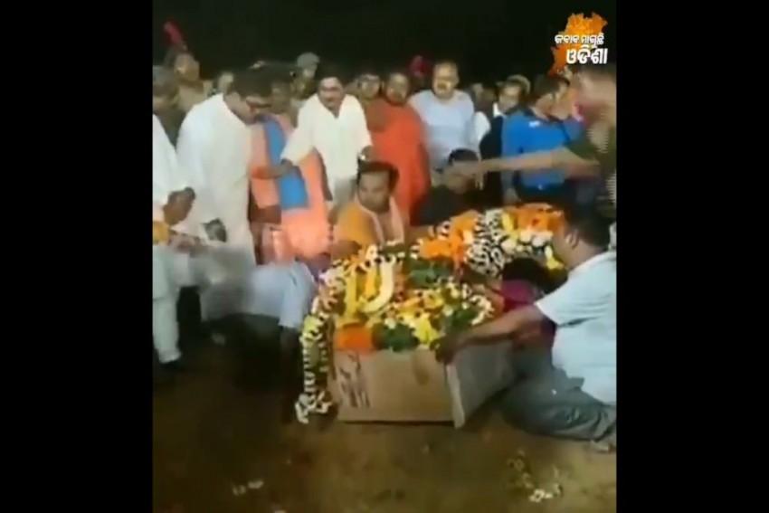 Video: Odisha MLA Shoves Kin Of Pulwama Attack Victim During Funeral