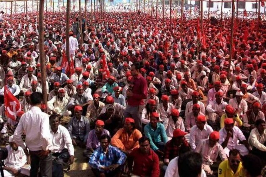 Maharashtra Farmers Launch 'Long March' For Second Time In 12 Months