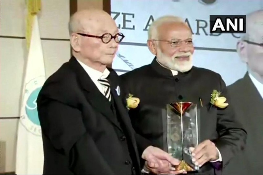 PM Modi Honoured With Seoul Peace Prize For 2018