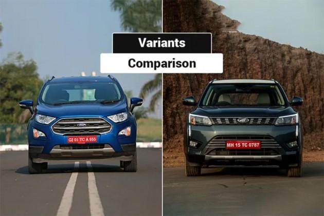 Mahindra Xuv300 Vs Ford Ecosport Variants Comparison