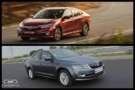 Honda Civic 2019 vs Skoda Octavia: In Pics
