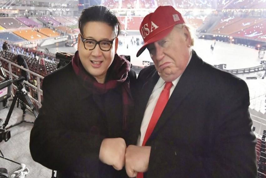 Trump, Kim Impersonators Stage 'Meeting' In Hanoi