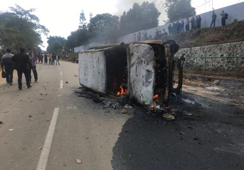 Protests Rage Over Residency To Non-Tribals In Arunachal Pradesh, Deputy CM's House Set Ablaze