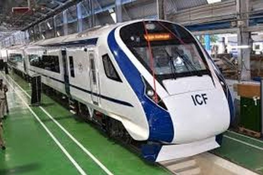 Side Windows Of Vande Bharat Express Damaged After Getting Hit By Flying Ballast