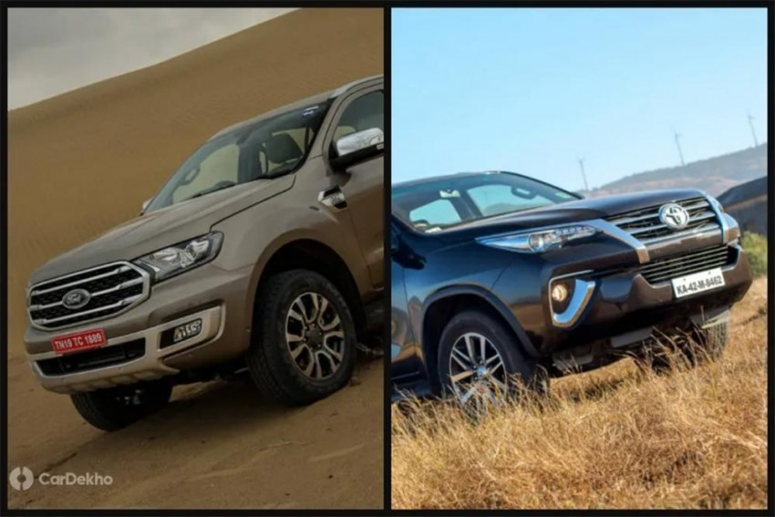 Ford Endeavour 2019 vs Toyota Fortuner: In Pics